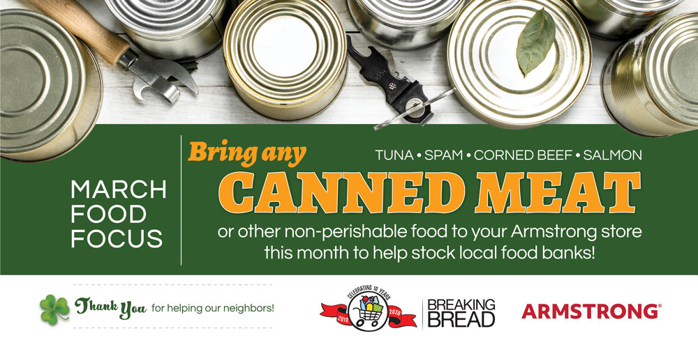 March Donation Focus: Canned Meat