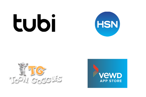 Tubi, HSN, Toon Goggles, Vewd App Store