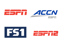 ESPN, NBC Sports Network, FS1, ESPN2