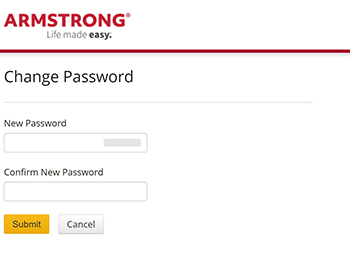 enter and confirm new password