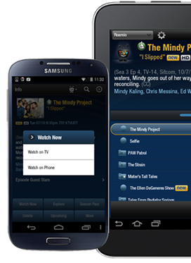 EXP TiVo® app update for Android devices