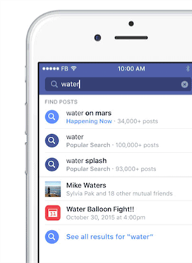 Facebook Expands the Search Bar