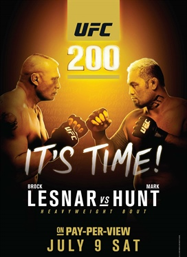 UFC 200: Lesnar vs. Hunt on July 9