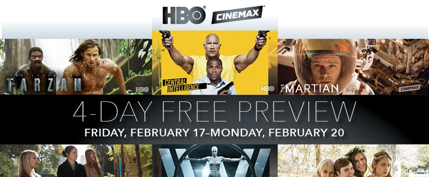 HBO & CINEMAX 4-Day Free Preview