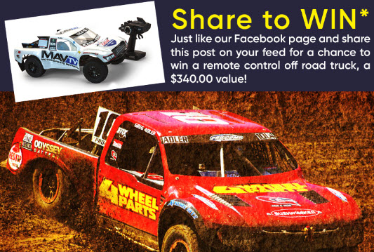 WIN a Remote Control Off Road Truck!