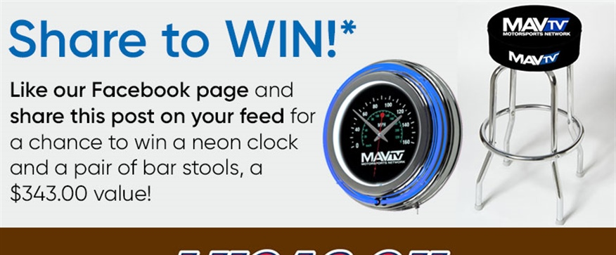 WIN a MAVTV Neon Clock and Pair of Stools!