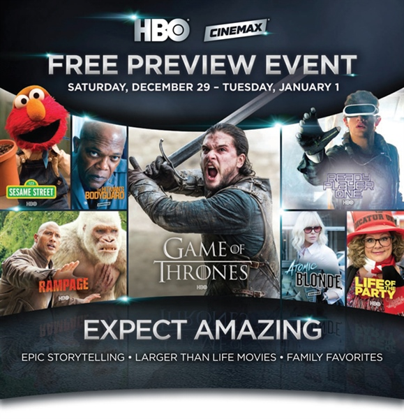 HBO / Cinemax New Year's Free Preview Event!