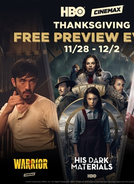 HBO & Cinemax Thanksgiving Free Preview